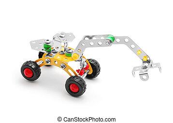 juguete, excavador