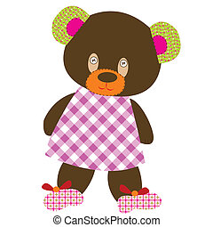 juguete, oso, teddy