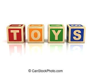 juguetes, bloques de madera