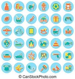 juguetes, icono