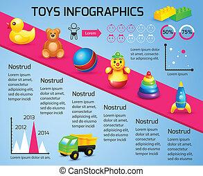 juguetes, infographic, plantilla