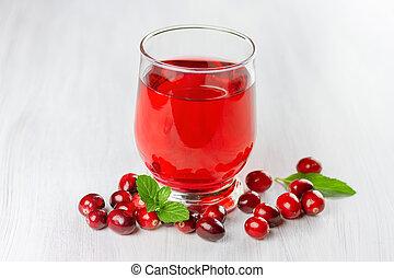 juice., 深さ, 新たに, クランベリー, フィールド, 小さい