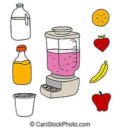 Juice Blender Item Set - An image of a juice blender item...