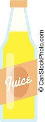Juice bottle icon, flat style