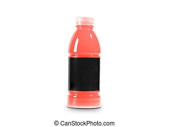 Juice bottle on a white background