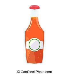 juice bottle on white background