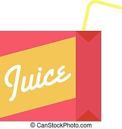 Juice box icon, flat style