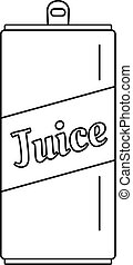 Juice can icon, outline style