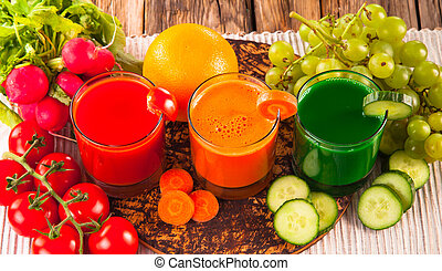 juice drink - fresh juice, mix vegetable, tomato, cucumber...