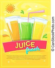 Juice fresh vector illustration