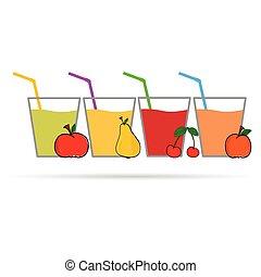 juice fruit color vector