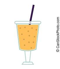 juice glass drinking straw design