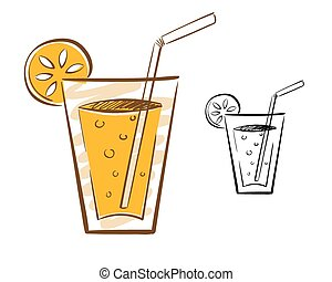 Juice Glass Illustration