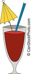 Juice hand drawn design, illustration, vector on white background.