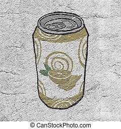 juice in metal can