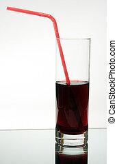 juice into a glass