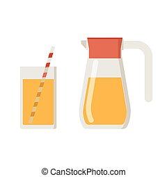 Juice Jug and Mug
