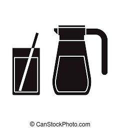 Juice Jug and Mug Outline Icon