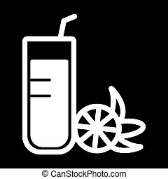juice line icon. vector illustration isolated.