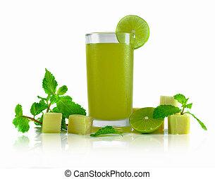 juice on white background