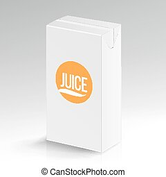 Juice Package Vector Realistic Mock Up. Carton Branding Box...