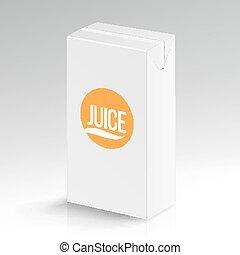 Juice Package Vector Realistic Mock Up. Carton Branding Box...