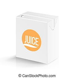 Juice Package Vector Realistic Mock Up Template. Carton...