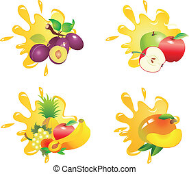 Juice vector - Set of vegetable vectors. To see similar, ...