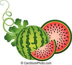 Juice Watermelon - Scalable vectorial image representing a ...