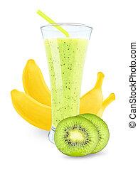 juice with kiwi and bananas