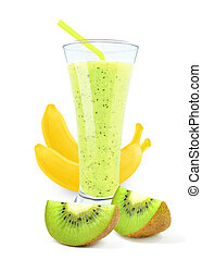 juice with kiwi and bananas