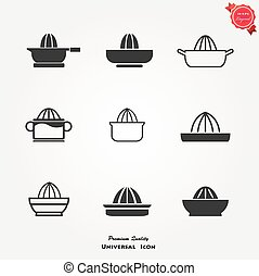 Juicer icons set