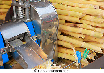 Juicer machine. Shop cane. Sweetened drinks.
