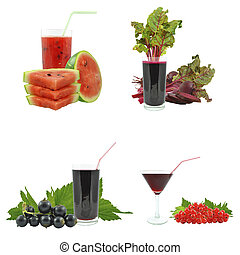 juices from fruits and vegetables
