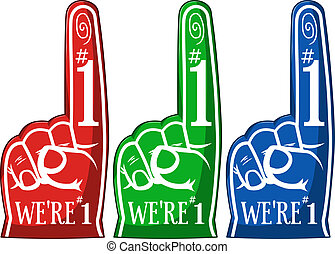 juichen, pulken pointing, drie, kleuren, troep