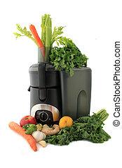 juicing, növényi, friss gyümölcs