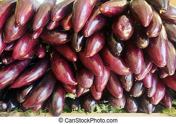 eggplants on the market