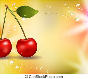 Juicy cherry background - Tasty charry. Abstract background....