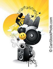 Juicy Fresh Beats - Juicy - But Sharp like lemon! Vector...