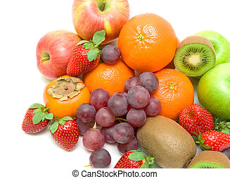 juicy fruit on a white background