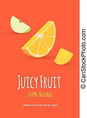 Juicy fruits poster