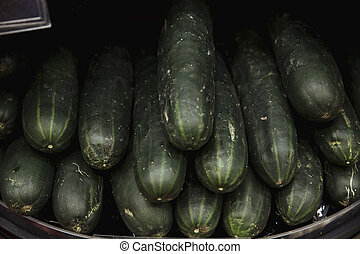 Juicy Homegrown Courgette's - A close-up shot of an...