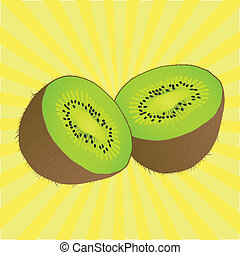 Juicy kiwi fruit vector background