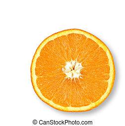 Juicy Orange - Half an orange on an isolated background.