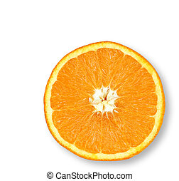 Juicy Orange - Half an orange on an isolated background.