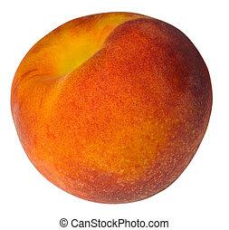 peach on an isolated background - juicy peach on an isolated...