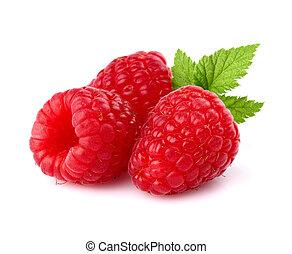 Juicy raspberry in closeup
