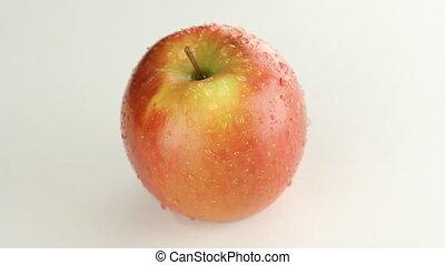 Juicy red apple.