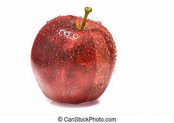 Juicy red apple isolated on white