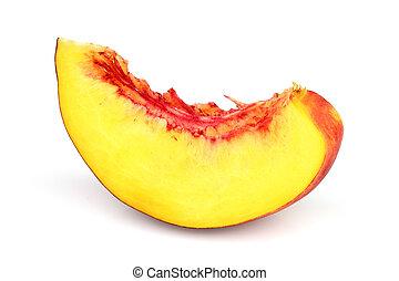 Juicy slice of nectarine